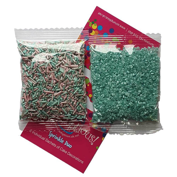Sprinkle Duo - Unicorn Strands and Turquoise Sugar