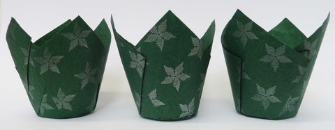 Muffin Tulips - Patterned - Green Star