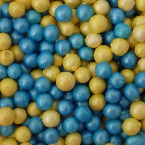 Glimmer Pearls - Blue and Yellow
