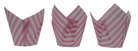 Muffin Tulips - Patterned - Pink Candy Stripe