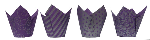 Muffin Tulips - Vogue - Purple and Silver