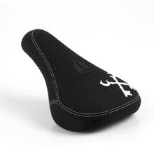 Cryptic Emblem Slim Combo BMX Seat - Black / White