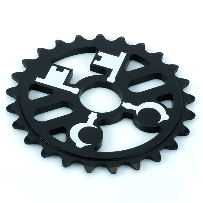 Cryptic Cross Keys Sprocket - Black 25 Tooth