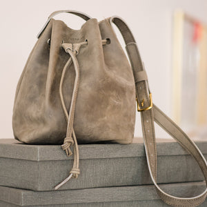 Bucket Bag | Leather Crossbody