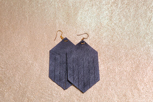 Geo Leather Earrings