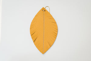 Heather Feather Leather Earrings $28-$32