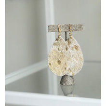 Gold Fleck Leather Earrings