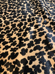 Caramel Cheetah Cow Hide
