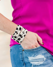 Hair On Leather Bracelet Cuff
