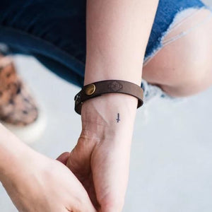 Single Leather Bracelet for Him and Her - DFJ Logo Bracelet