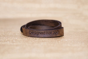 DFJ Wraparound Leather Bracelet