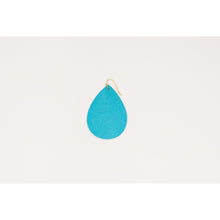 Spring Leather Teardrop Earrings