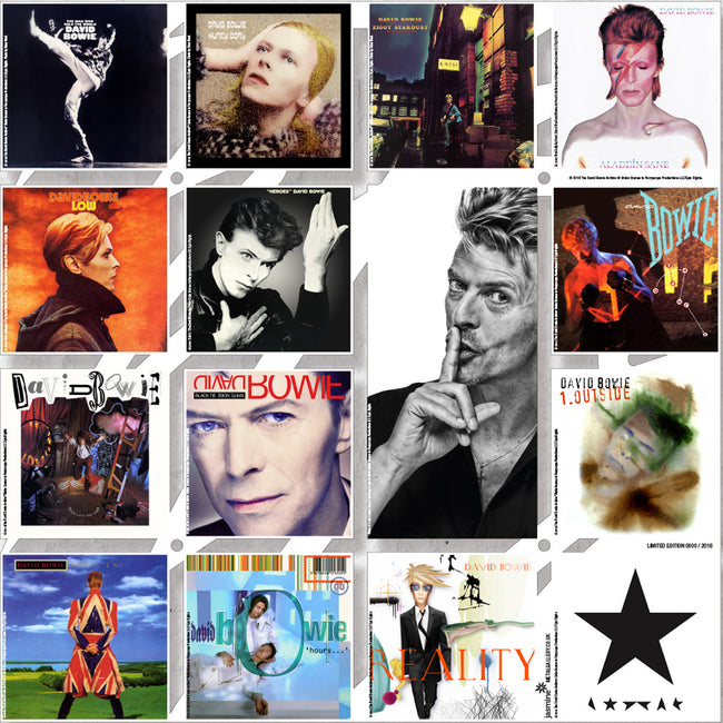 David Bowie Albums Wall Art - Limited Edition