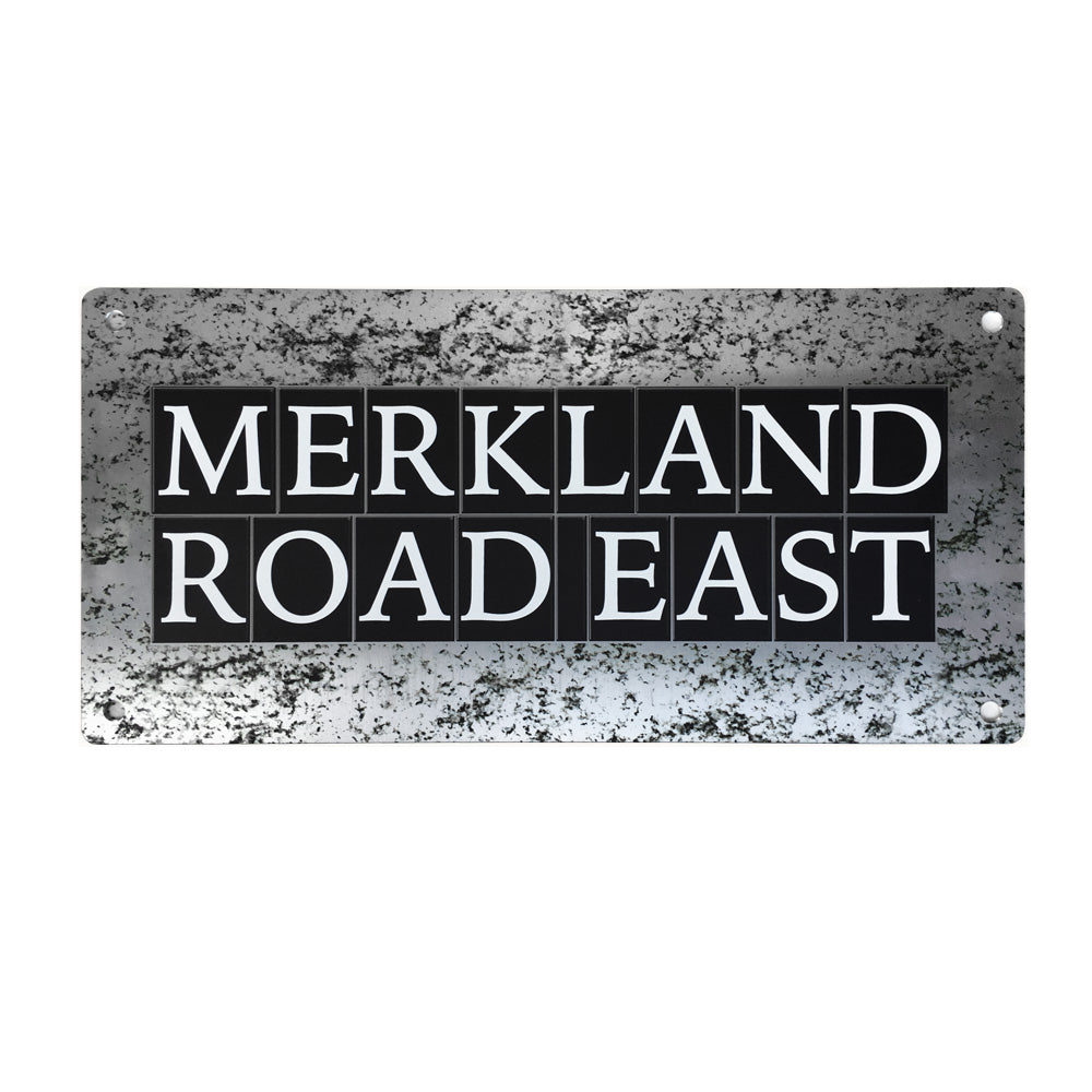 Merkland Road East Street Sign