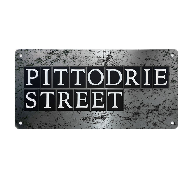 Pittodrie Street<br>Sign