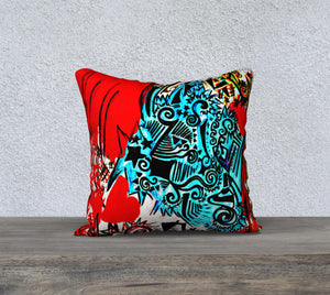 Housse de coussin 18'' x 18'' - Grunge Love - Pillow Case 18'' x 18''