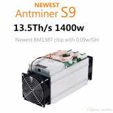 AntMiner S9 13.5Th/s Asic Miner Bitcoin 16nm BTC Mining machine bitmain
