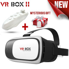VR 3D Glasses with Helmet 3D Video Headset Glasses Bluetooth Gamepad