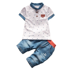 Baby boys summer clothing sets