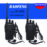 2Pcs/setWalkie Talkie Portable Radio Transmitter Transceiver