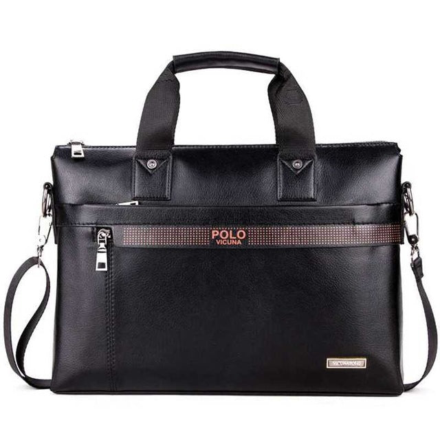 Men Leather Hand/Shoulder Business Bag
