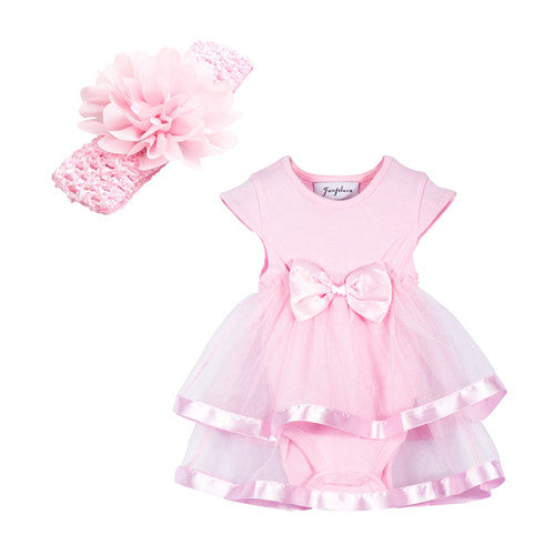 Cotton Baby Girl Romper & Handband