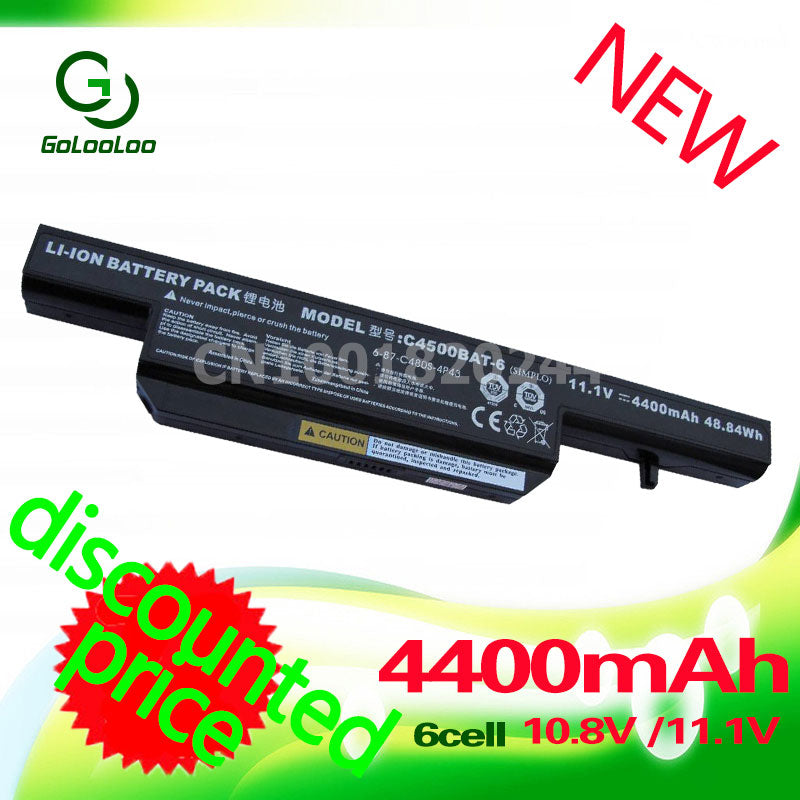 Golooloo laptop battery for Clevo C4500BAT-6 C4500BAT6 B4100M C4500 C4500BAT6 B4105 B5100M B5130M W150 Series W240C W240HU W250H