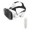 Leather  Helmet  3D Virtual Reality VR Glasses Headset Stereo Box forMobile Phone