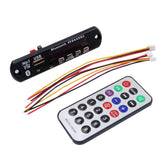 Hot Sale 2017 Wireless Bluetooth 5V 12V MP3 WMA Decoder Board Audio Module USB TF Radio remote control For Car accessories