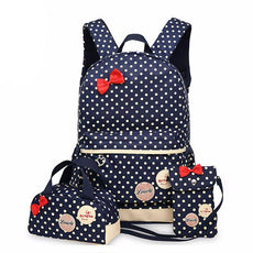 3 in 1 Teen and Kid Girls School Bag