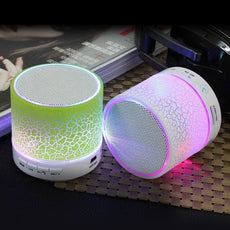 LED Bluetooth Speaker Wireless Hands free Portable Speakers Subwoofer Loudspeakers Musical Audio For Phone With Mic TF USB FM