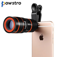 8x Zoom Optical Phone Telescope Portable Mobile Phone Telephoto Camera Lens and Clip for Smartphones