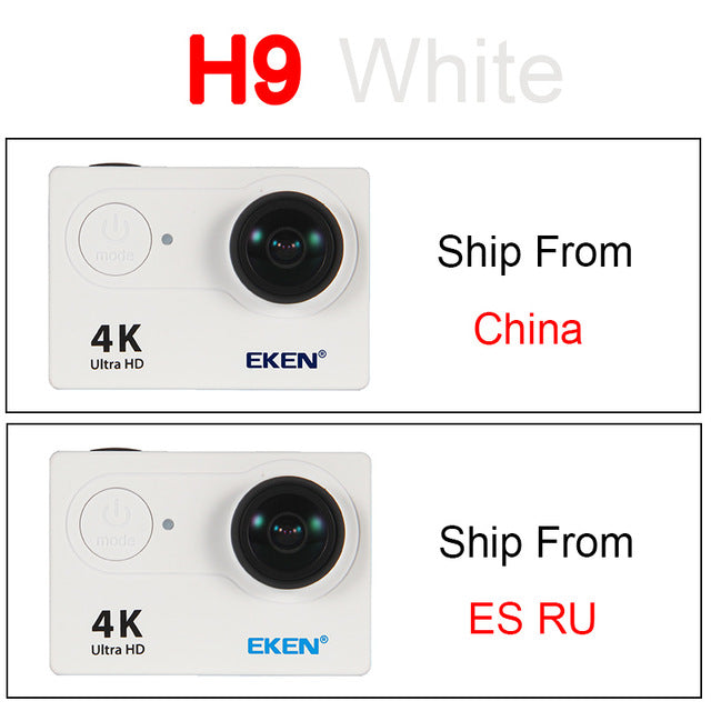 "EKEN H9 Action camera H9R Ultra HD 4K / 25fps WiFi 2.0"" 170D Underwater Waterproof Helmet Cam camera"