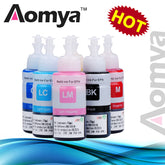Aomya Dye Ink Based Non OEM Set of 6 Refill Ink Kit 70ml For Epson L800 L801 Printer Ink Cartridge No. T6731/2/3/4/5/6