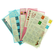 Colored Book Calenders