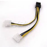 6 inch 2 x Molex 4 pin to 8-Pin PCI Express Video Card Pci-e ATX PSU Power Converter Cable - Molex to Pcie 8 pin (6+2) Adapter
