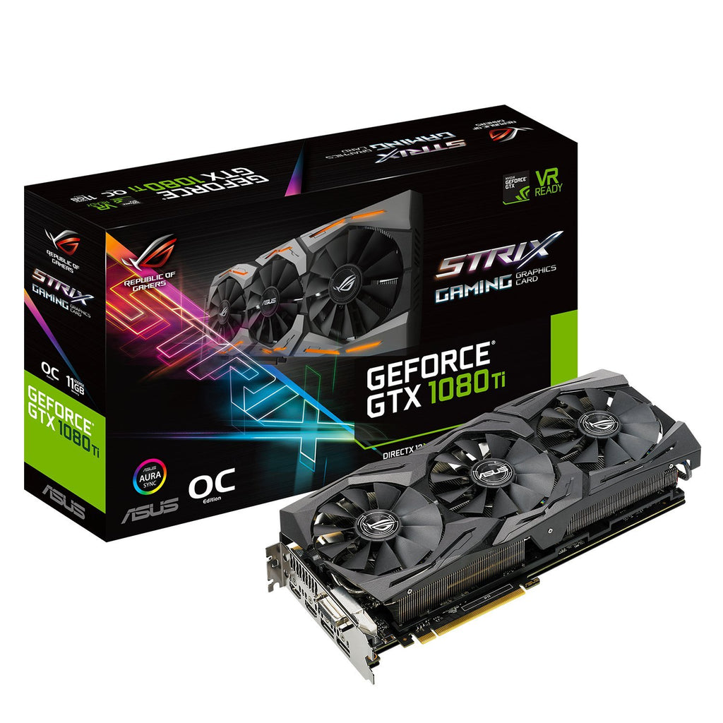 ASUS ROG STRIX-GTX1080TI-11G-GAMING GTX1080TI Raptor Warrior Graphics