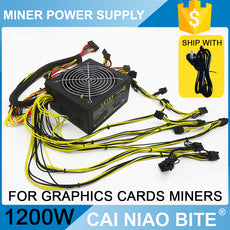 ATX PSU 1200W power supply for eth rig ethereum coin miner mining