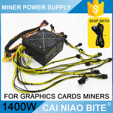 2017 New Netpower 1400w power supply 1U PSU,for ETH miner mining graphics card RX480 RX470 RX570 RX580