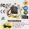 2017 New Netpower 1400w power supply 1U PSU,for Antminer S9 S7 L3 ETH miner PSU bitcoin mining