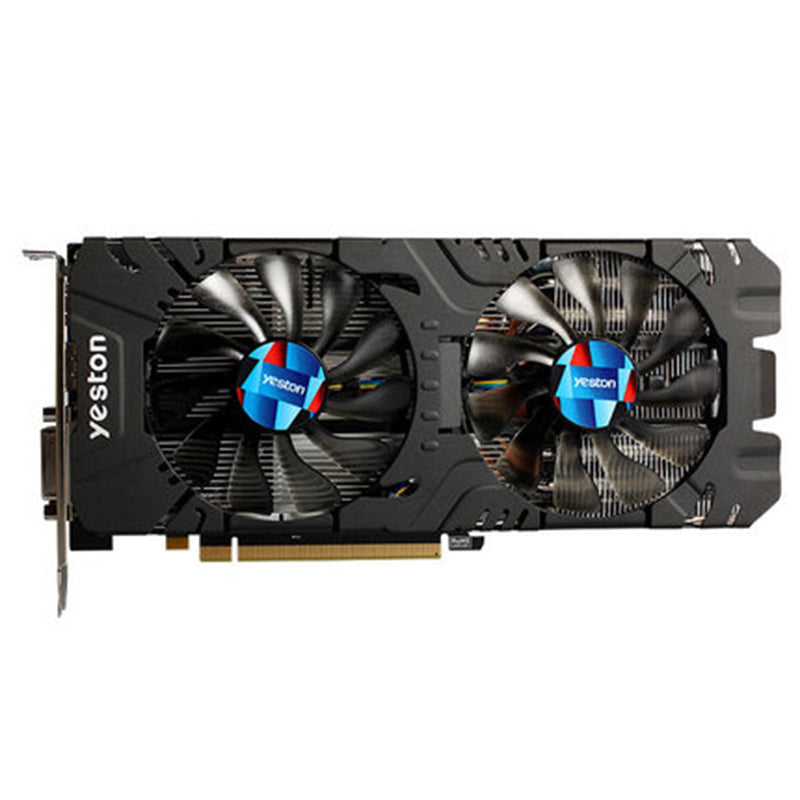 New Arrival Yeston Radeon RX570 4G GDDR5 Graphics Card 256bit 2048 Units 1244MHz Core Clock Dual Silent Temperature Control Fans
