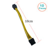 10PCS/LOT New Arrival PCI Express PCI-E 6pin to 8pin 6 Pin to 8 Pin 6p to 8p pcie Graphic Card Power Adapter Cable 18CM For PC