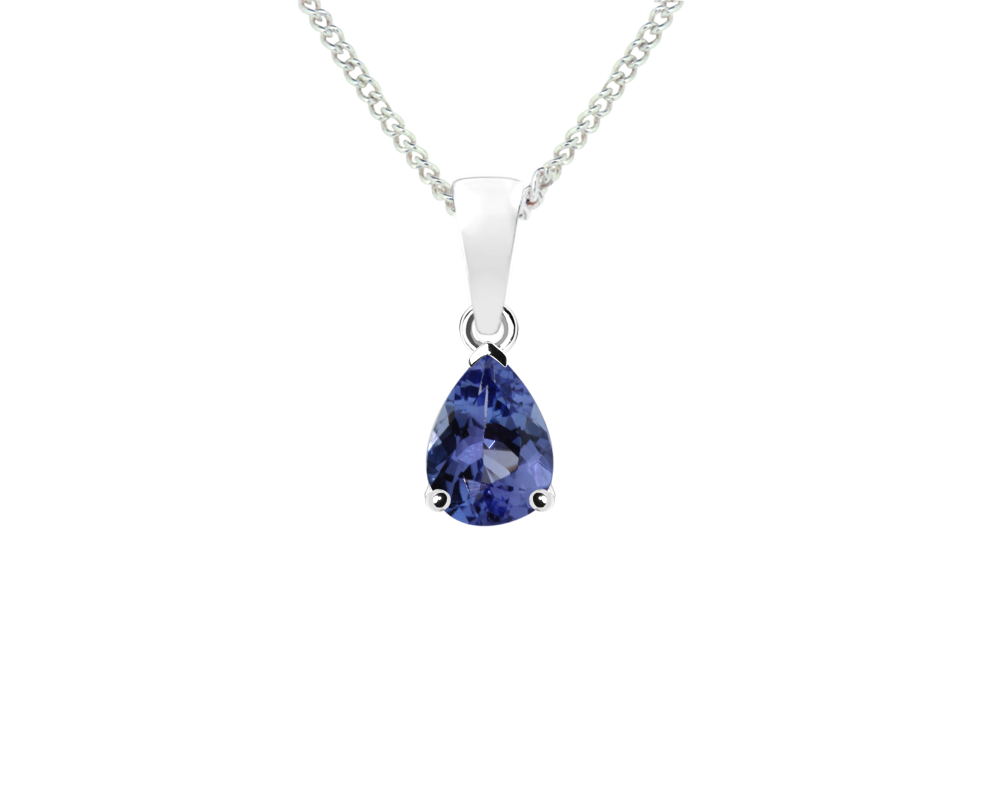 round bezel pendants set tanzanite necklace solitaire diamond pendant halo necklaces drops wg aaaa