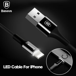 Cable de recharge USB pour Iphone (lighting) LED