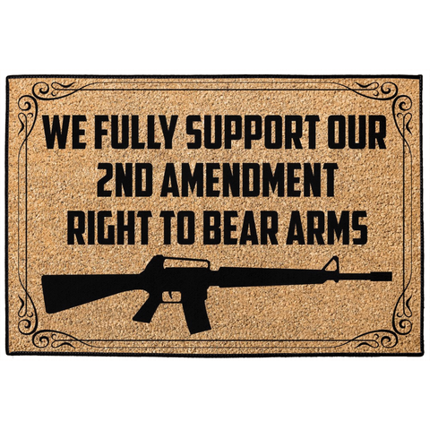 We Fully Support Our 2nd Amendment Right To Bear Arms Indoor/Outdoor Floor Mat - Hunt Lab Technologies