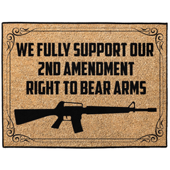 We Fully Support Our 2nd Amendment Right To Bear Arms Indoor/Outdoor Floor Mat