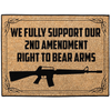 Image of We Fully Support Our 2nd Amendment Right To Bear Arms Indoor/Outdoor Floor Mat - Hunt Lab Technologies