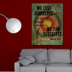 Hunting Quote We Lose Ourselves Framed Canvas Wall Art For Hunters - Hunt Lab Technologies
