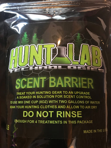 Scent Barrier 2 lb  - Clothing Scent Control 4 Treatments - Hunt Lab Technologies