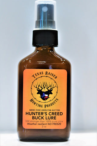 Hunters Creed Buck Lure - Texas Raised Bottled Scent Urine - Hunt Lab Technologies